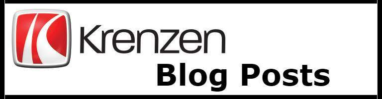 "the words ""Krenzen Blog Posts"" and the Krenzen logo on a white background, it is a link button"