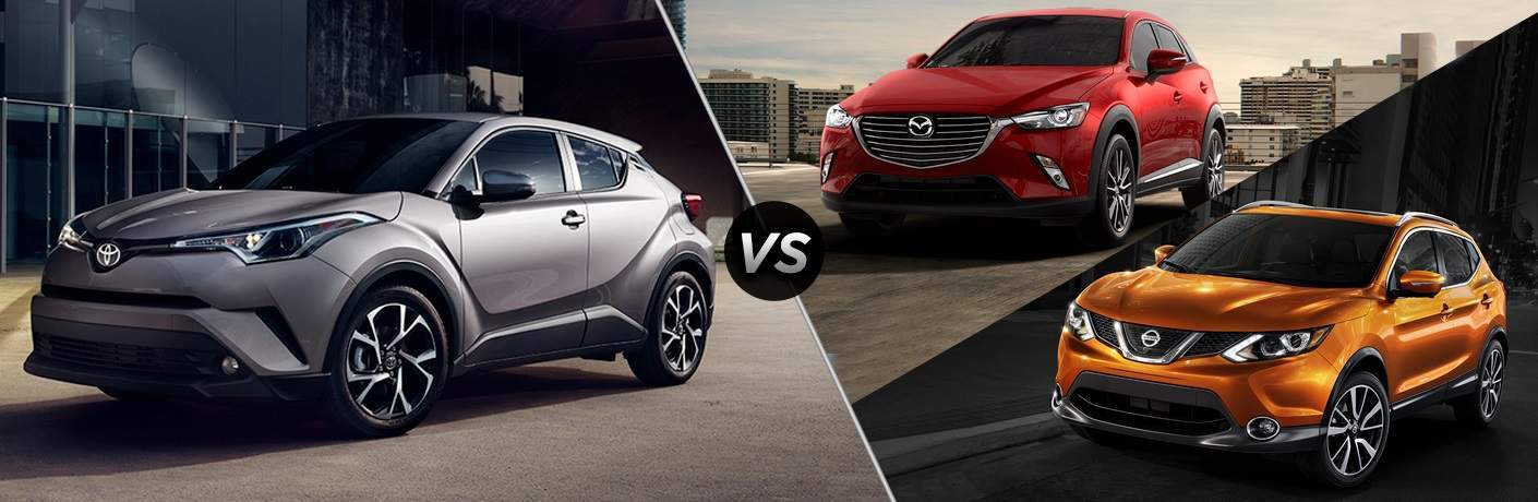 2018 Toyota C-HR vs. 2017 Mazda CX-3 and 2017 Nissan Rogue Sport
