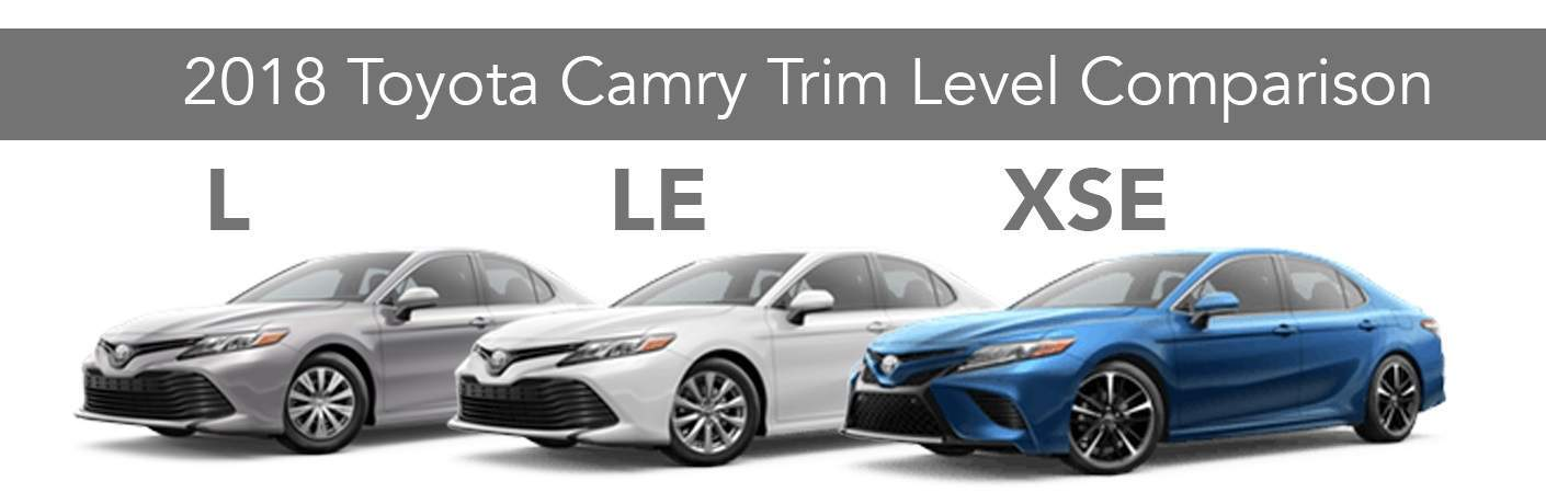 2018 toyota camry trim levels l vs le vs sx vs xle vs xse. Black Bedroom Furniture Sets. Home Design Ideas