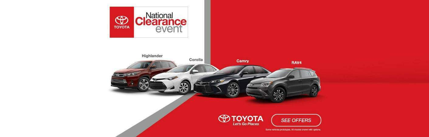 Toyota National Clearance Event 2017 models Lafayette IN