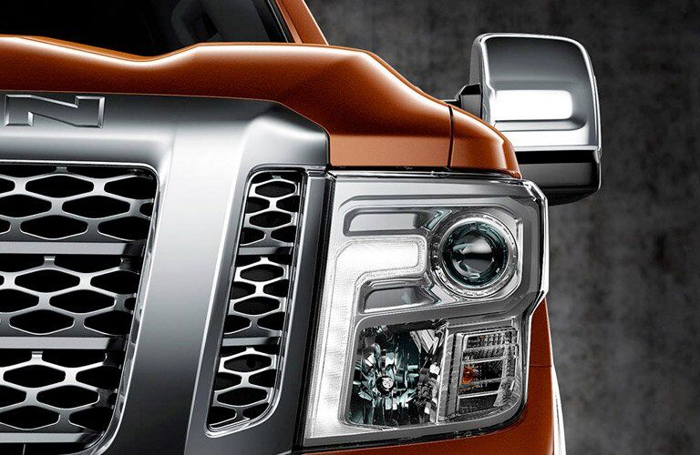 2017 Nissan Titan XD headlight design