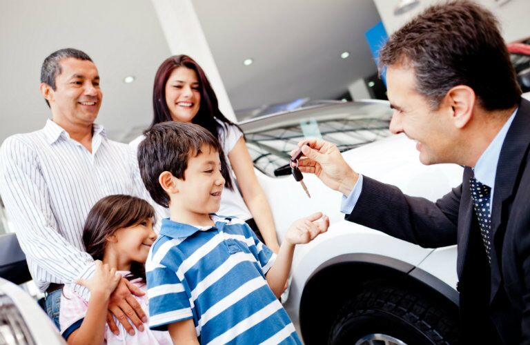 family purchasing vehicle