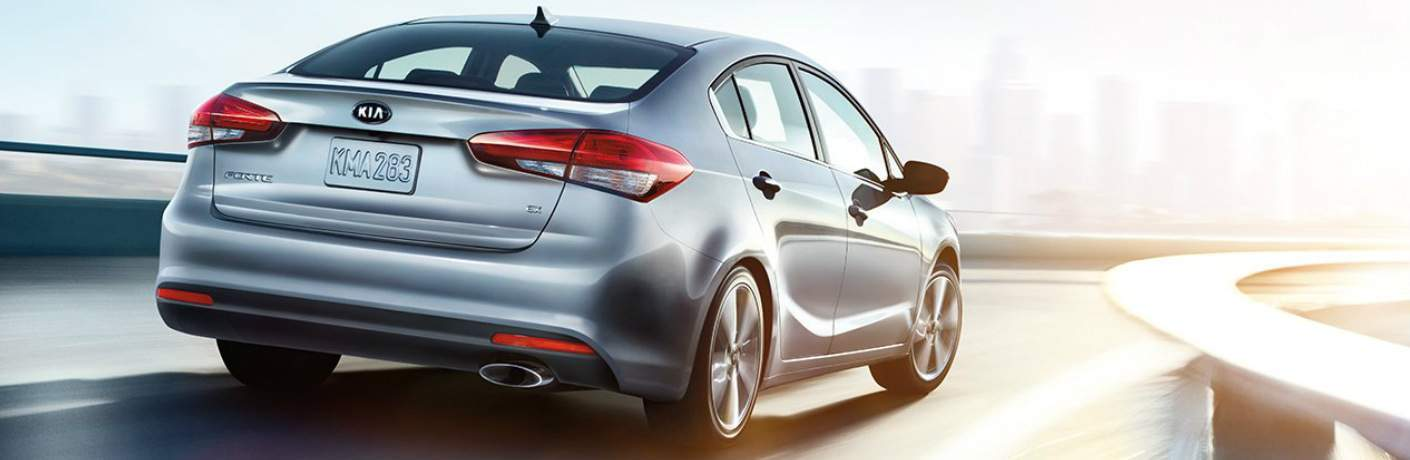 2018 Kia Forte Rear View with Sunlight