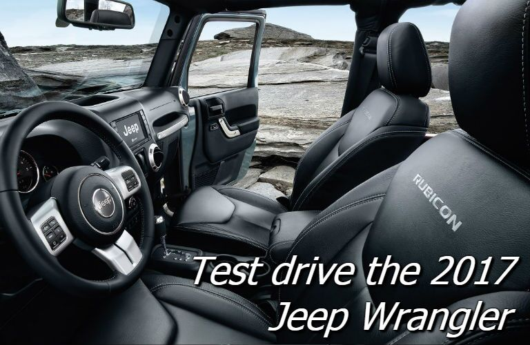 Where can i test drive a 2017 jeep wrangler in mansfield OH
