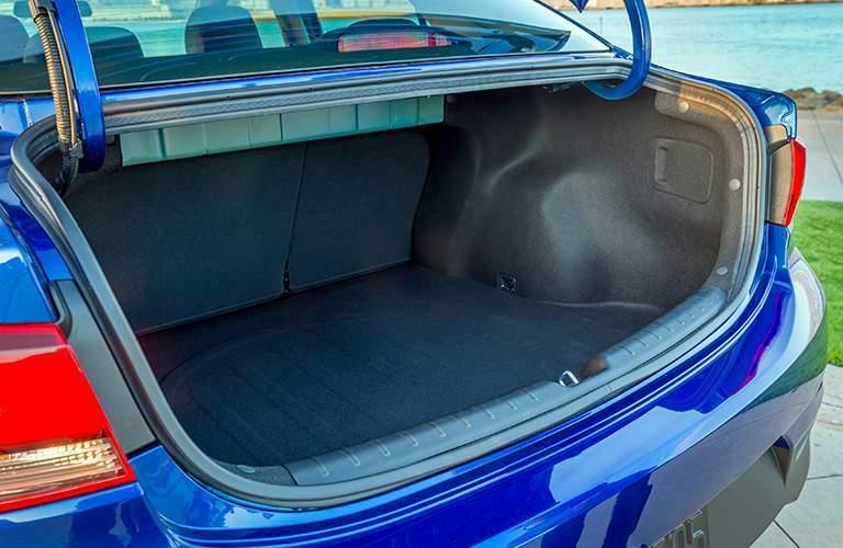 open trunk of the 2018 Kia Rio