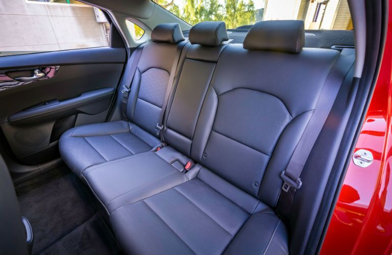 A view of the rear seats in the 2019 Kia Forte.