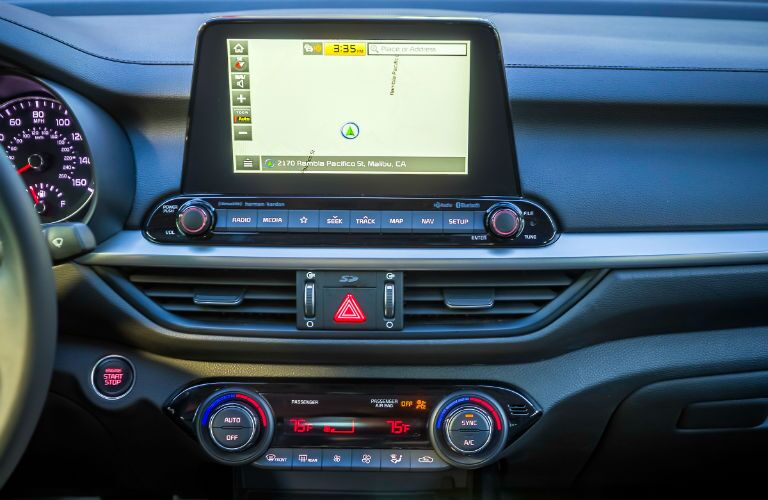 A look at the touchscreen interface in the 2019 Forte.