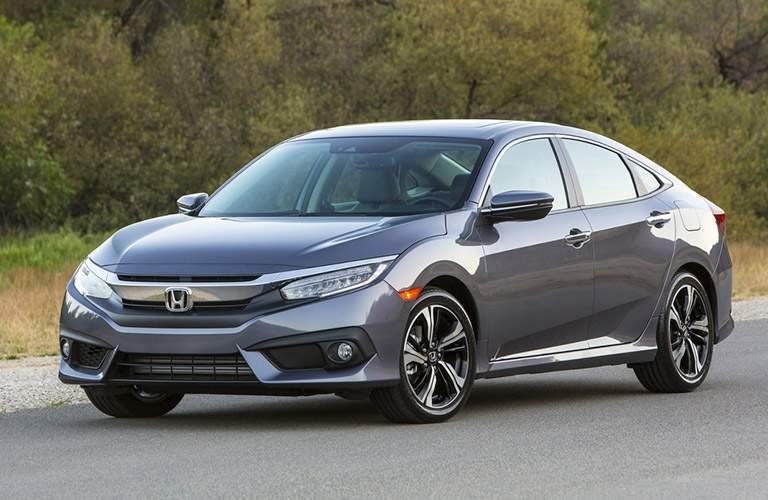 2017 Honda Civic Sedan gray side view