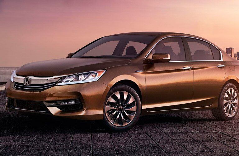 2017 Honda Accord Hybrid in the sunset