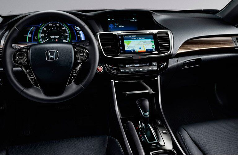 2017 Honda Accord Hybrid front dashboard view