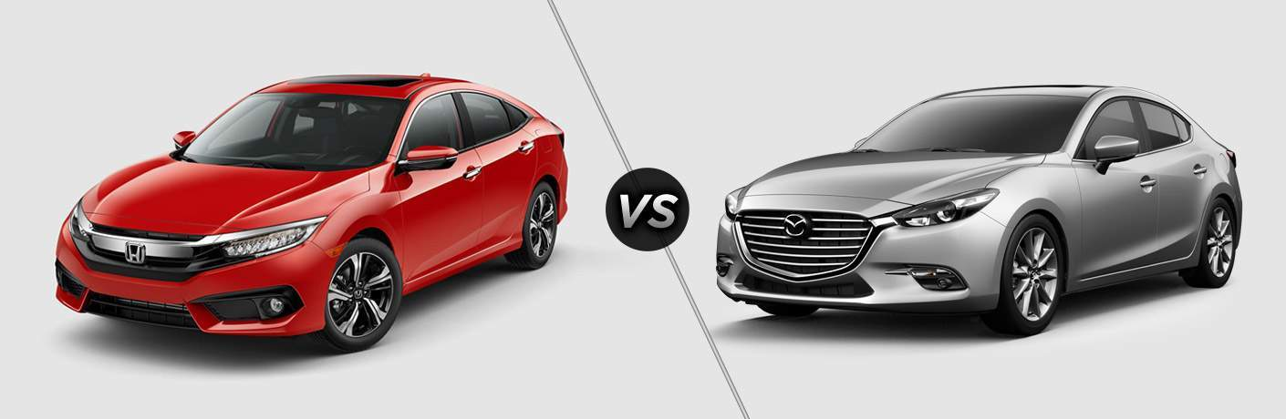 2017 Honda Civic Sedan vs 2017 Mazda3