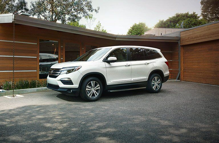 2017 Honda Pilot parked in the driveway