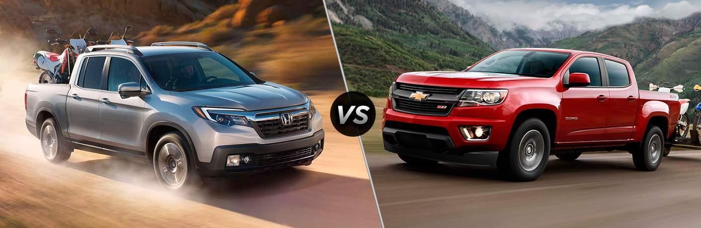 2017 Honda Ridgeline vs 2017 Chevy Colorado