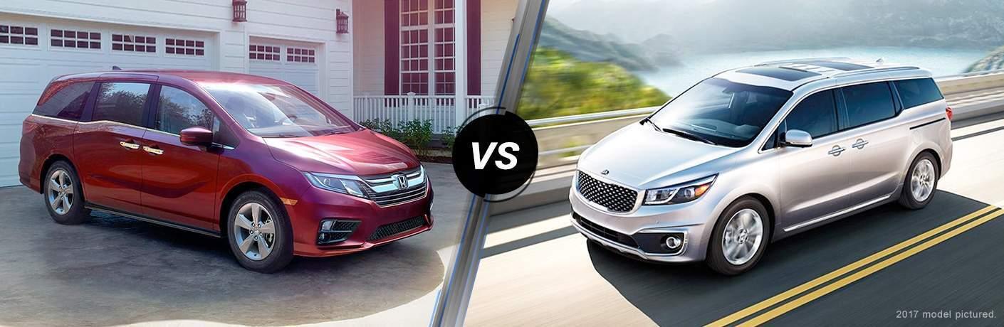 2018 Honda Odyssey vs 2018 Kia Sedona