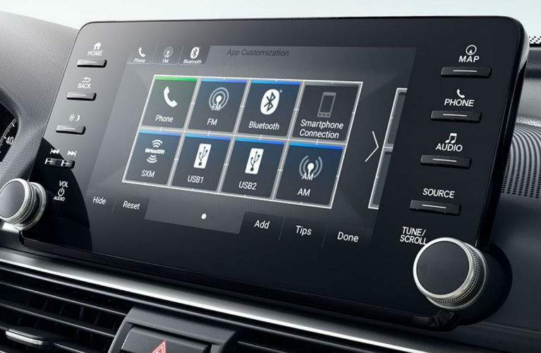 2018 Honda Accord Sedan infotainment display screen