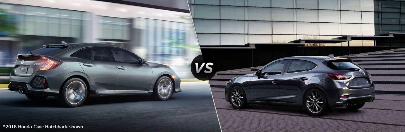 2018 Honda Civic Hatchback vs 2018 Mazda3 5-Door