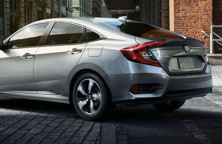 2018 Honda Civic Sedan parked in the city on brick