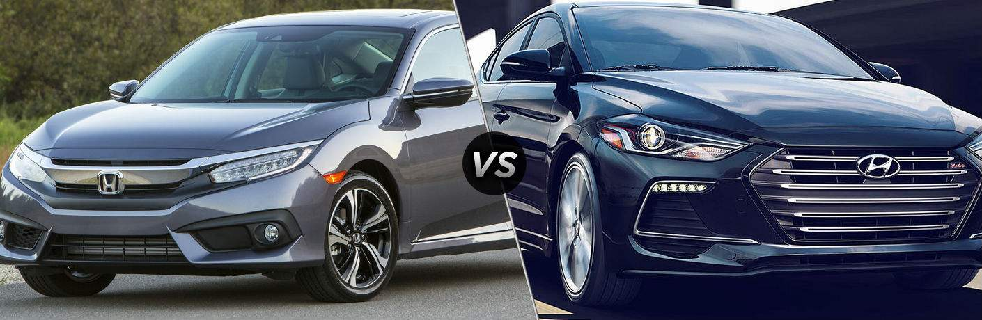 2018 Honda Civic Sedan vs 2018 Hyundai Elantra