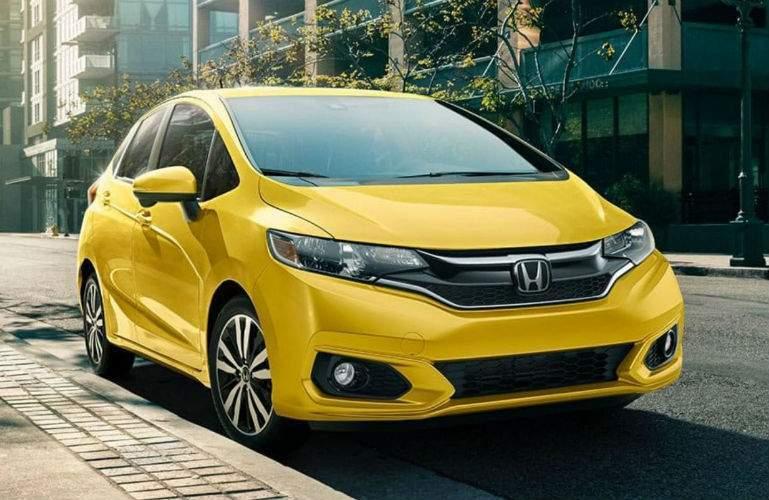 2018 Honda Fit in yellow