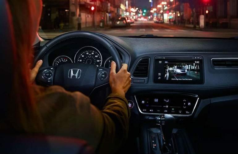 2018 Honda HR-V driving at night