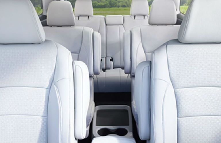 2018 Honda Pilot straight back interior view of the seats