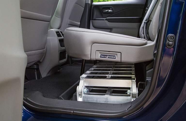 2018 Honda Ridgeline under rear seat storage with ladder stored
