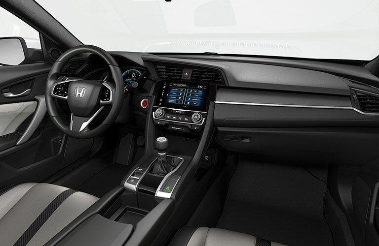 2017 Honda Civic Sedan Touring dashboard and steeringwheel