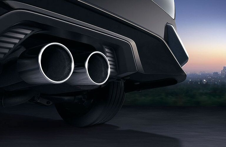 2017 Hatchback chrome tipped exhaust