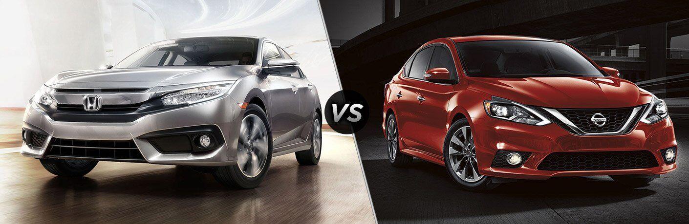 2017 Honda Civic Sedan vs 2017 Nissan Sentra