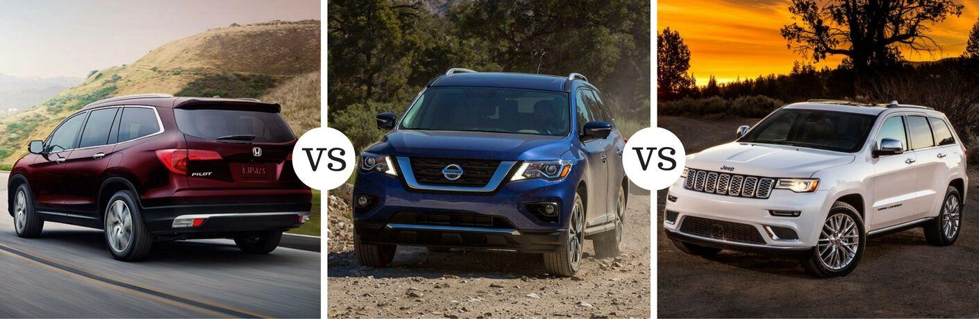 2017 Honda Pilot vs 2017 Nissan Pathfinder vs 2017 Jeep Grand Cherokee