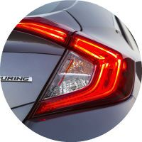 2017 Civic c-shaped taillights