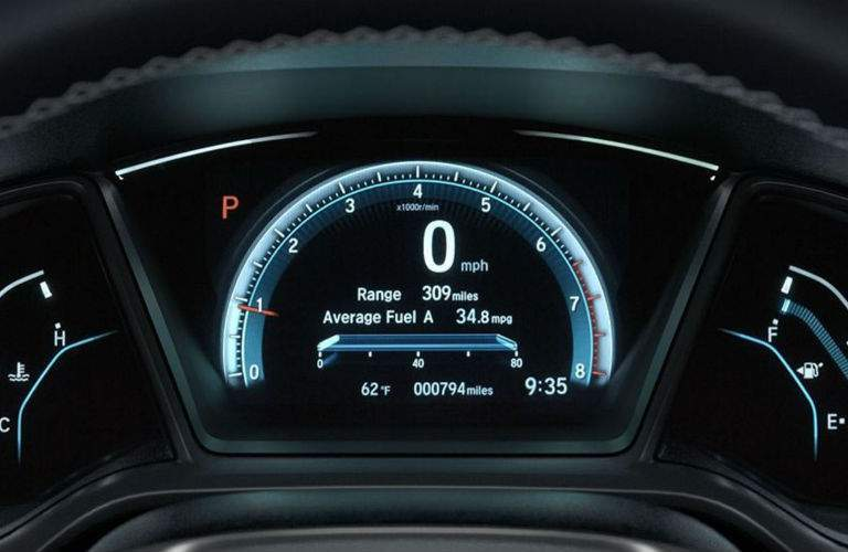 2017 Honda Civic Sedan instrument display