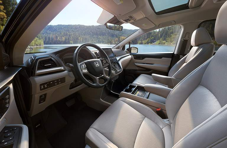 View of front seats of 2018 Honda Odyssey