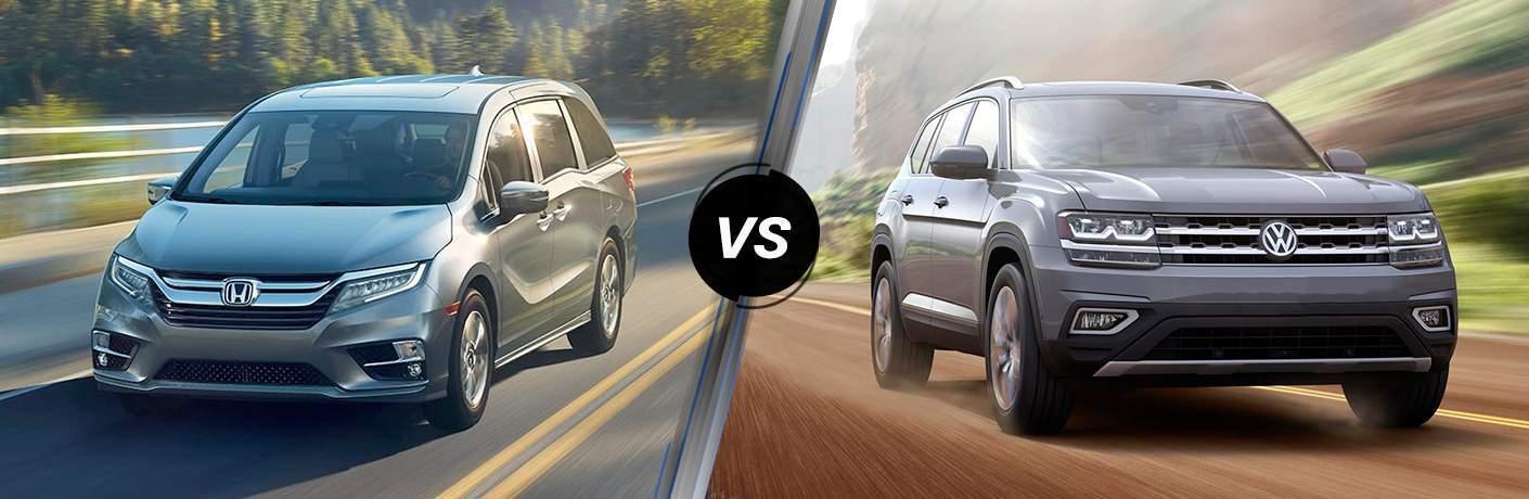 2018 Honda Odyssey vs. 2018 Volkswagen Atlas