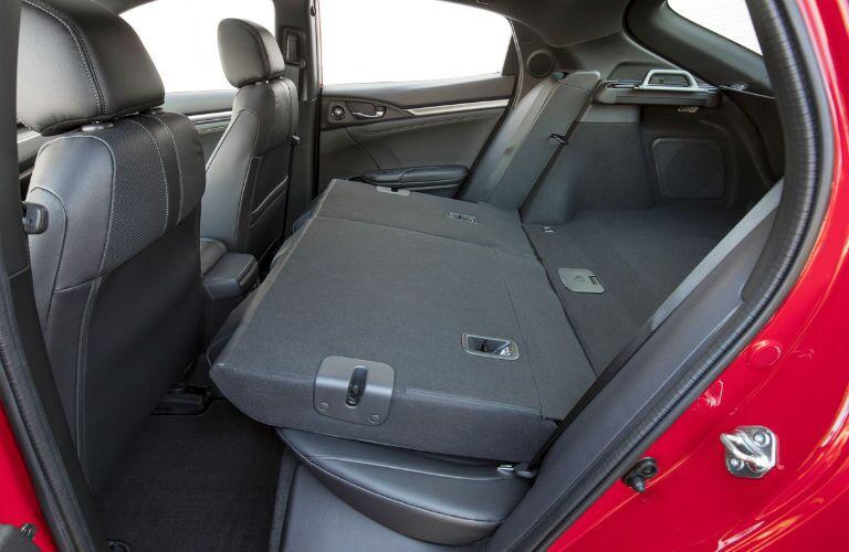 2018 Honda Civic Hatchback with rear seats folded