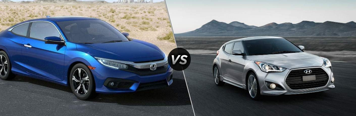 2018 Honda Civic Coupe vs 2017 Hyundai Veloster
