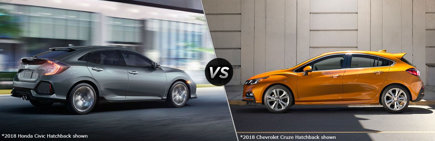 2018 Honda Civic Hatchback vs 2018 Chevrolet Cruze Hatchback