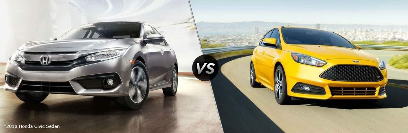 2018 Honda Civic Sedan vs 2018 Ford Focus Sedan