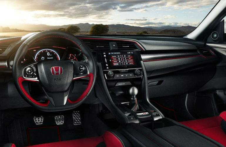2018 Honda Civic Type R interior and dashboard view