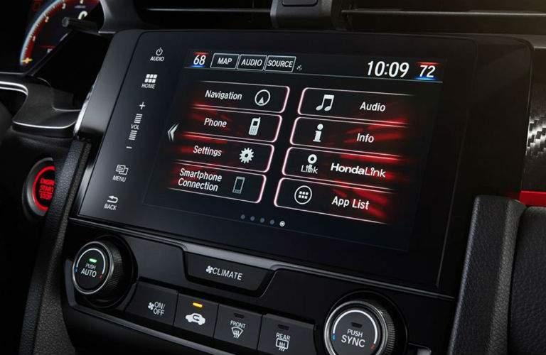 2018 Honda Civic Type R infotainment system