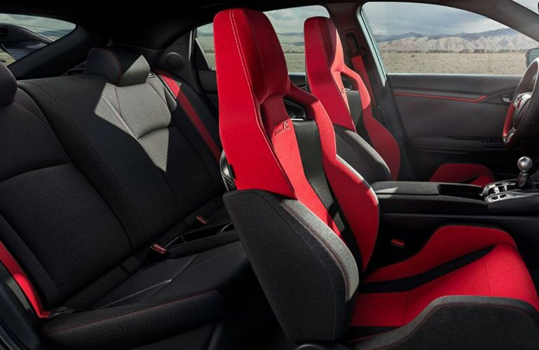 2018 Honda Civic Type R profile view of seating