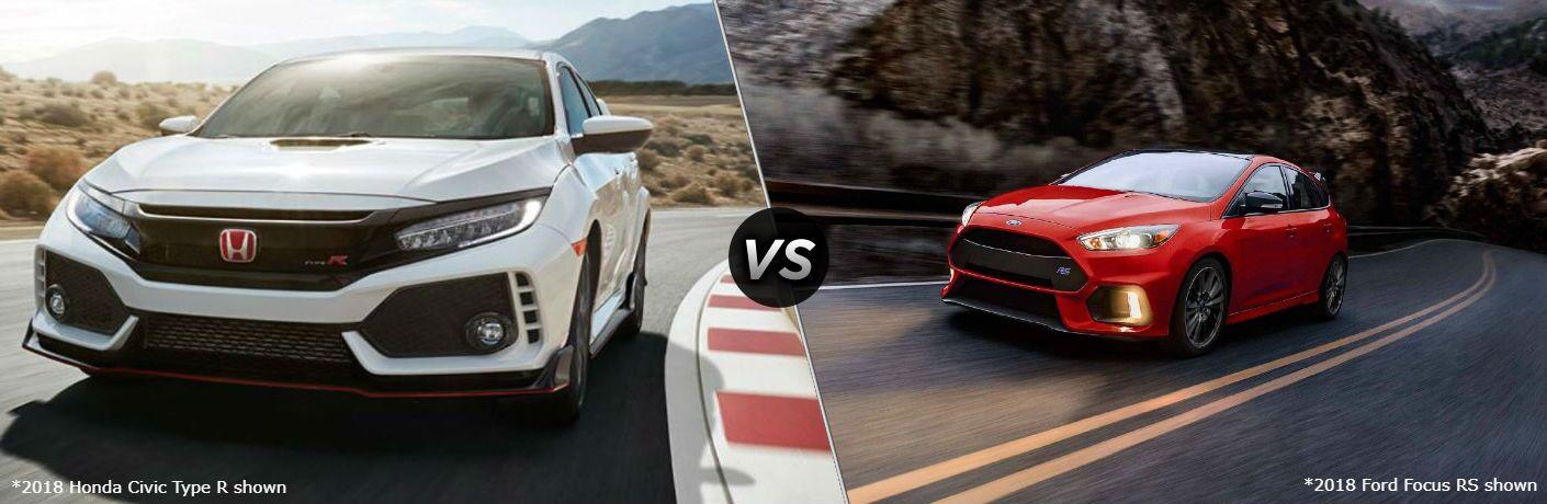 2018 Honda Civic Type R vs 2018 Ford Focus RS