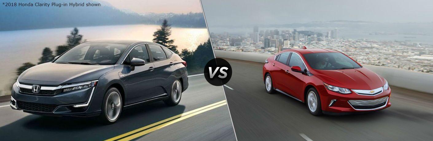 2018 Honda Clarity Plug-in Hybrid vs 2018 Chevrolet Volt