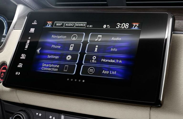 2018 Honda Clarity Plug-in Hybrid display audio screen