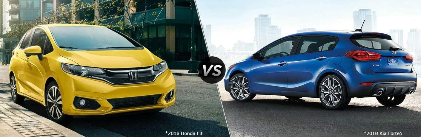 2018 Honda Fit vs 2018 Kia Forte5