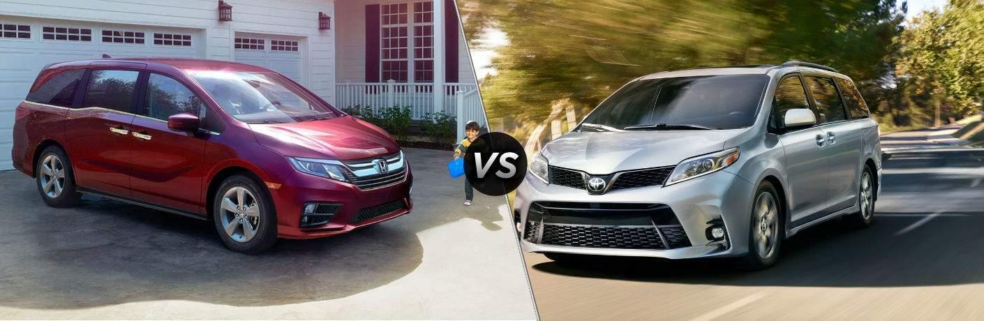 2018 Honda Odyssey vs 2018 Toyota Sienna