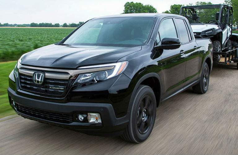 2018 Honda Ridgeline towing trailer