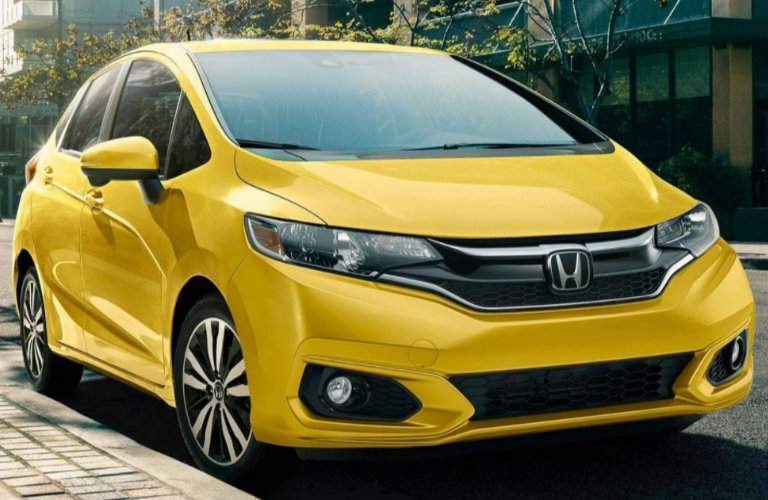 View of the grille of the 2018 Honda Fit