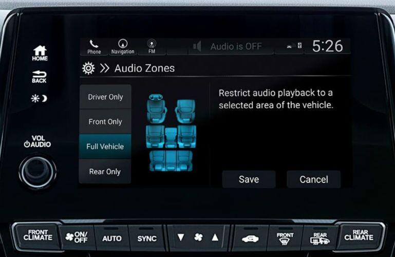 2019 Honda Odyssey with Multi-Zone Audio feature