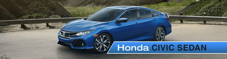 2018 Honda Civic Sedan parked near mountains